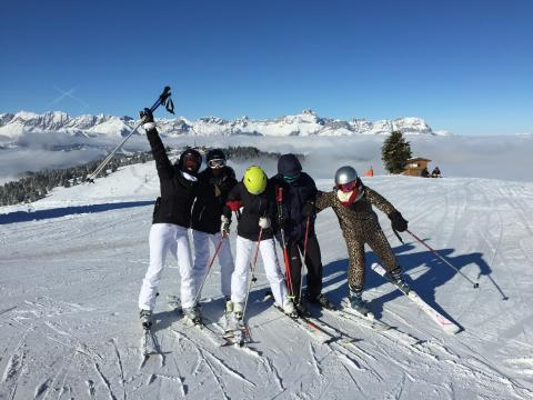 Family ski lesson with Megeve Ski Escape Ski School